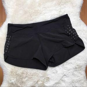 Lululemon Speed Shorts Black Size 6 Running Shorts